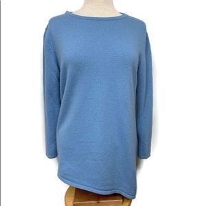 Neiman Marcus Asymmetrical Cashmere Ruched Tunic